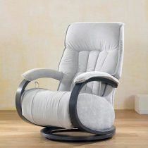 leather and fabric armchairs